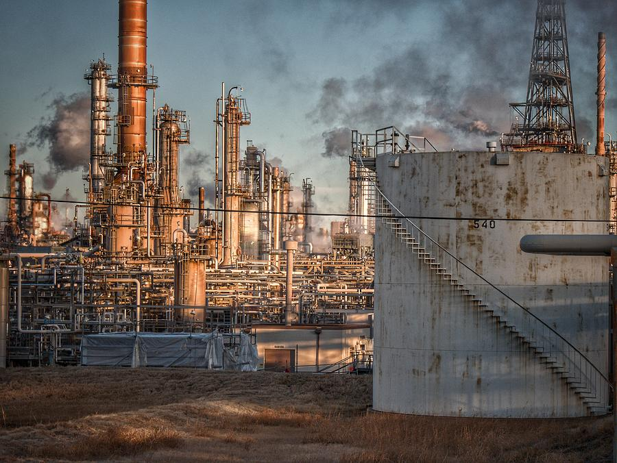 Refinery In Morning Light Photograph