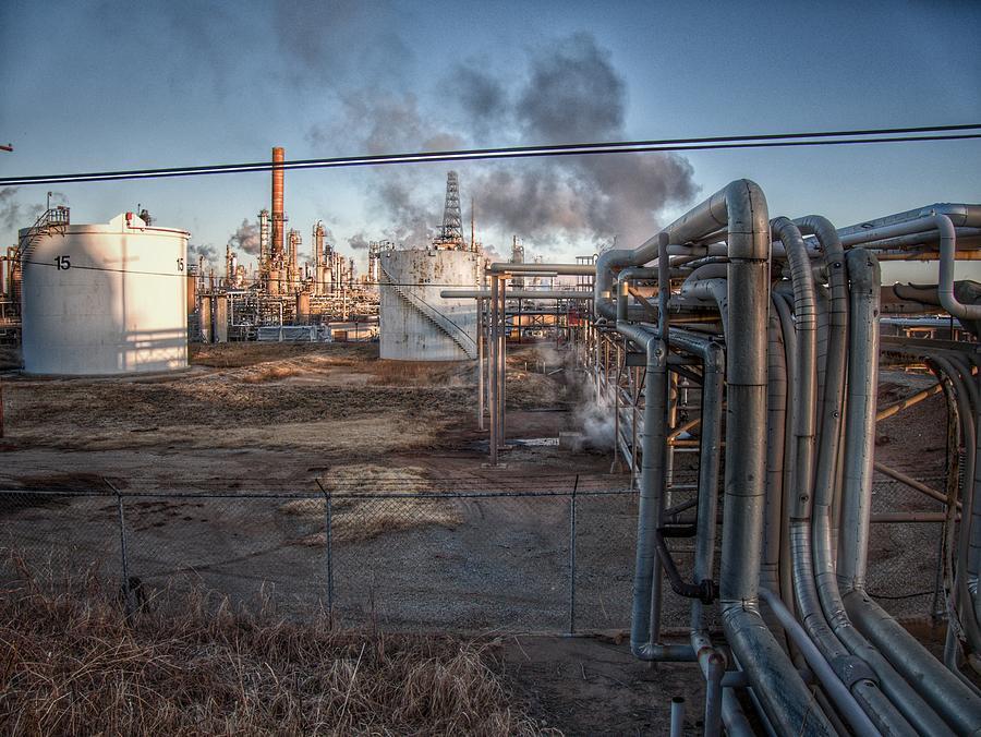 Refinery Plumbing Photograph