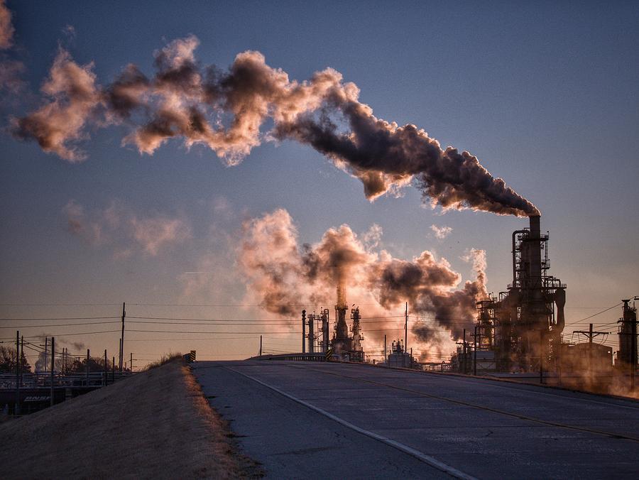 Refinery Roadside Photograph