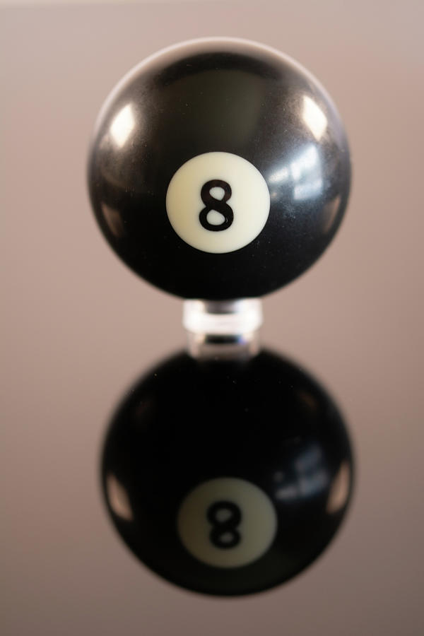 Reflecting 8 Ball Photograph