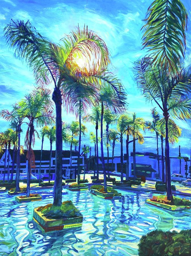 Pool Painting - Reflecting Pool by Bonnie Lambert