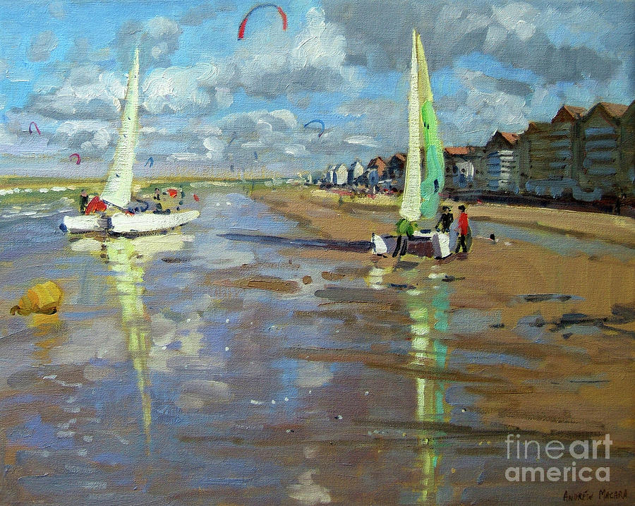 Reflection Painting - Reflection, Bray Dunes, France by Andrew Macara