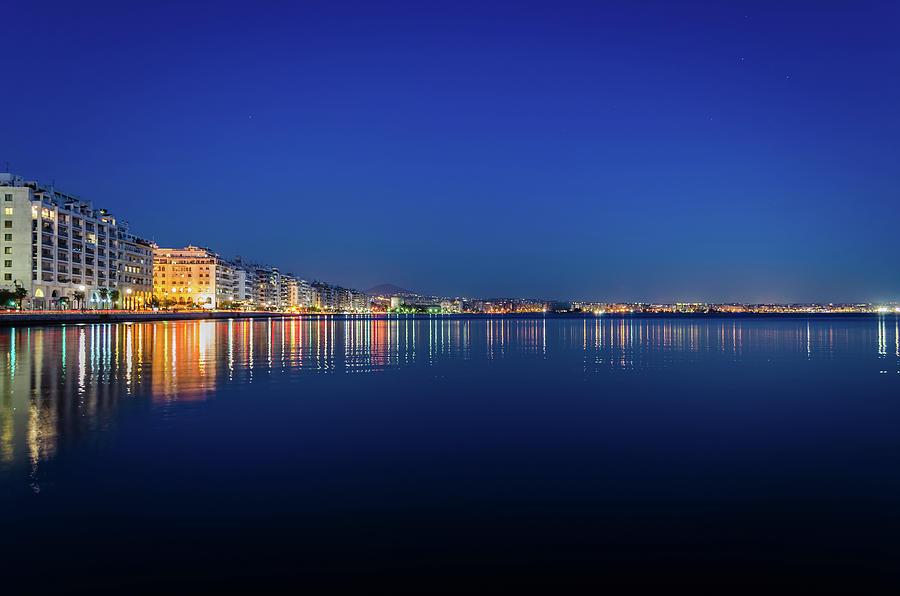 Reflection Of Thessaloniki City Centre Photograph