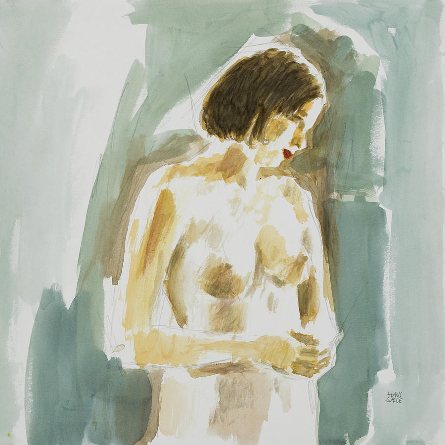 Reflections - Figure painting by Hans Egil Saele