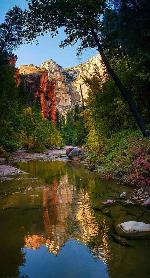 Reflections Of Oak Creek Canyon Photograph