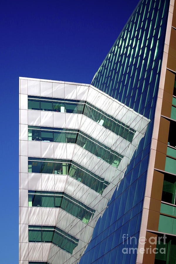 Architecture Photograph - Reflections On Design, Seattle by Douglas Taylor