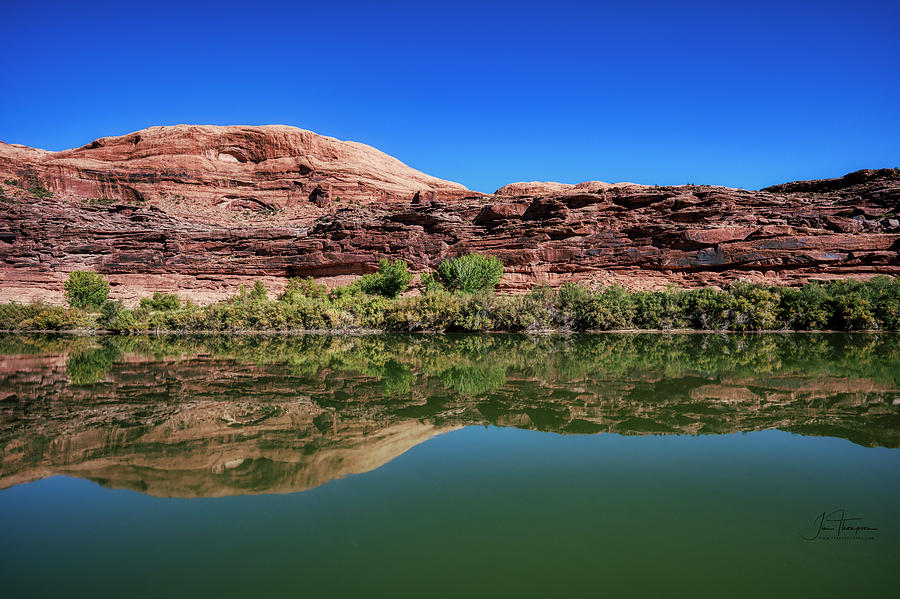 Colorado River Photograph - Reflections on the River by Jim Thompson