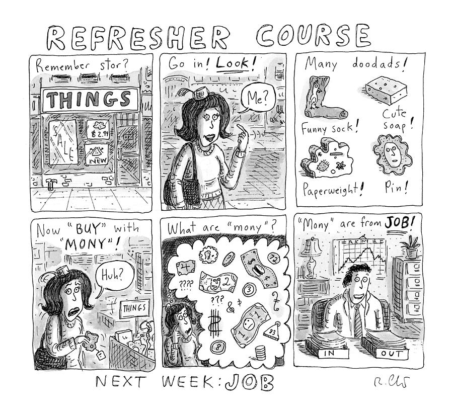 Refresher Course Drawing by Roz Chast