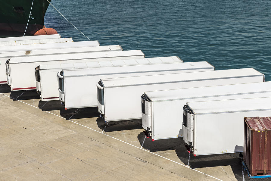Refrigerated containers Photograph by J2r