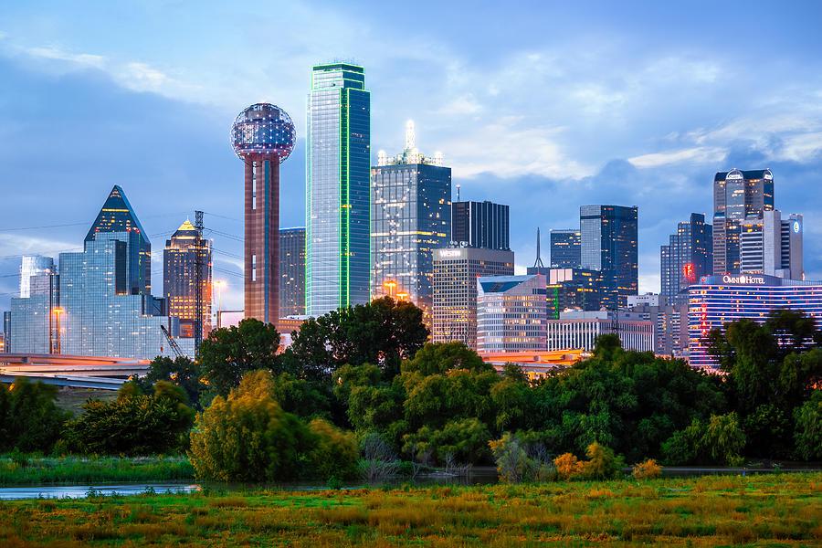 Regency Tower, Bank of America Building, Dallas Skyline, Dallas, Texas, America Photograph by Joe Daniel Price