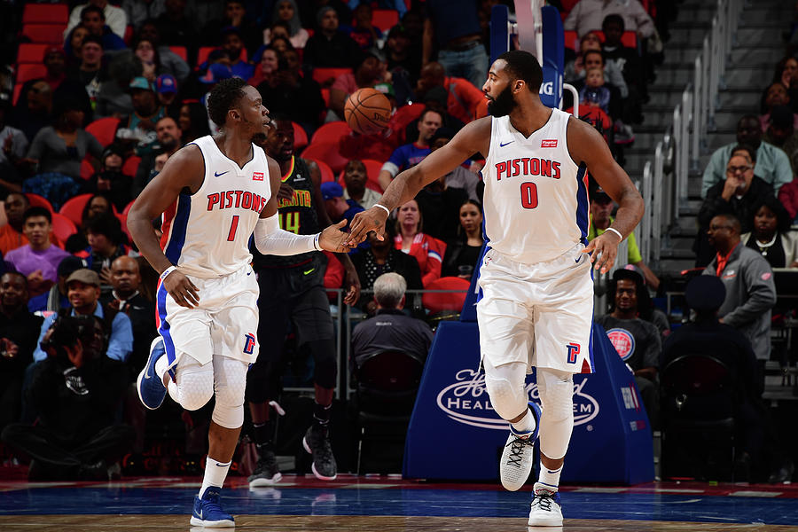 Reggie Jackson and Andre Drummond Photograph by Chris Schwegler