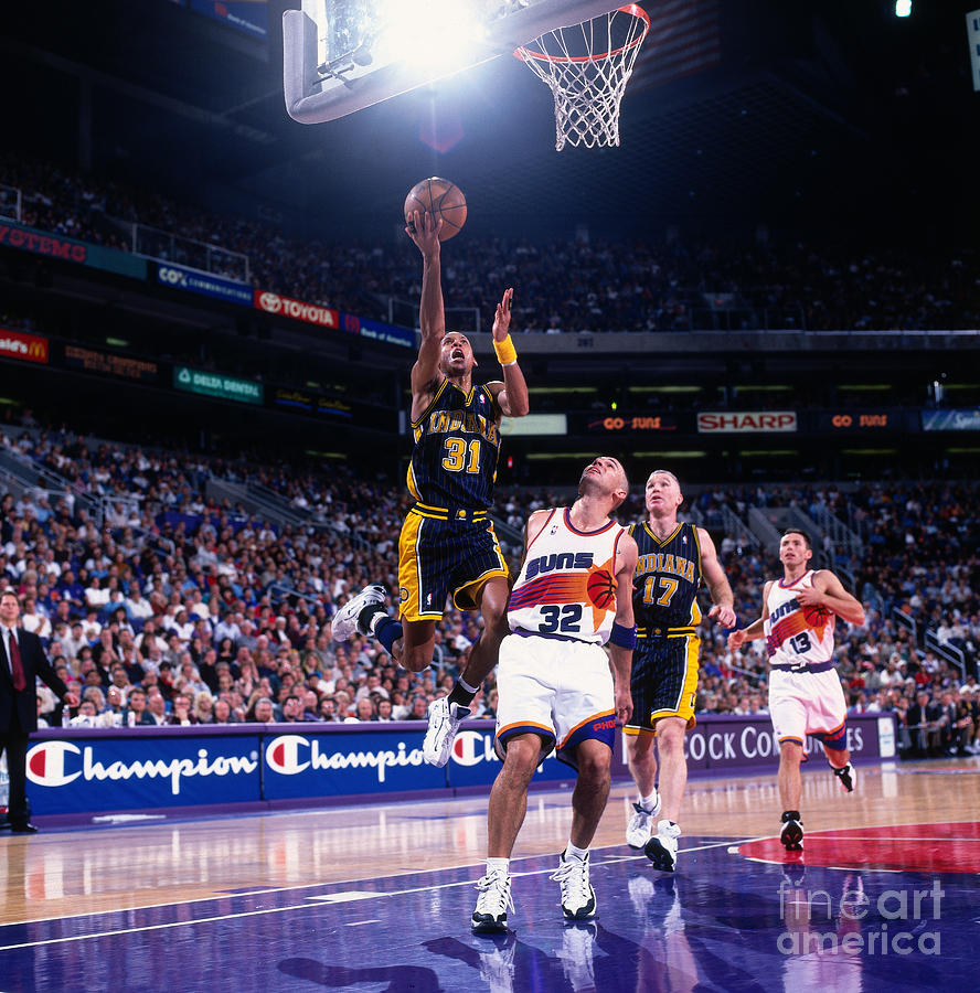 Reggie Miller and Jason Kidd Photograph by Sam Forencich