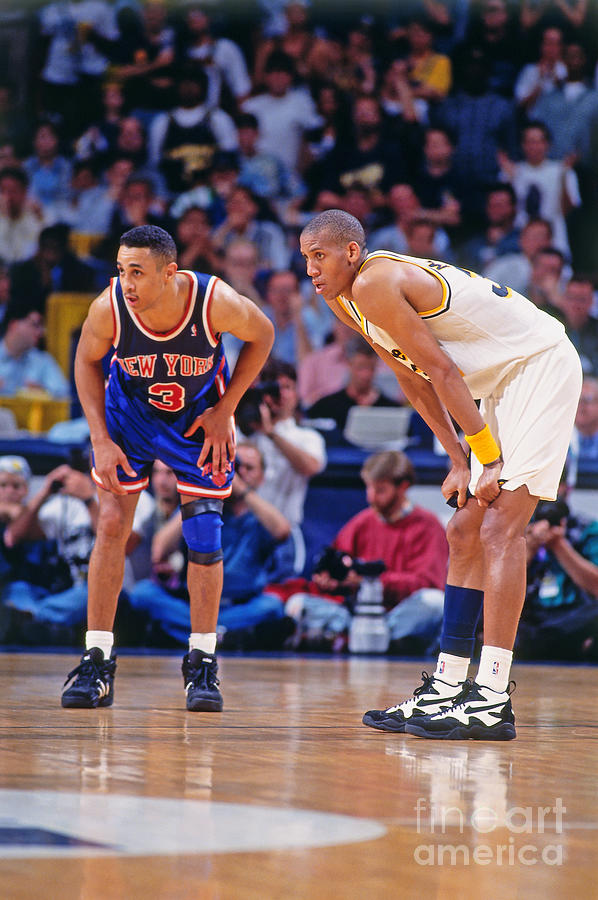 Reggie Miller and John Starks Photograph by Mitchell Layton