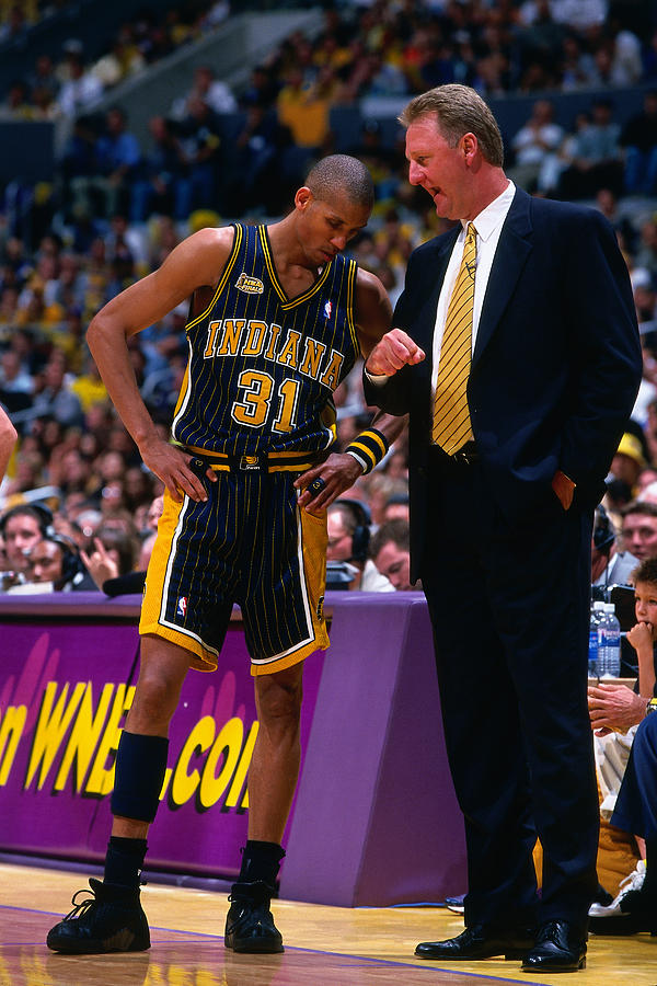 Reggie Miller and Larry Bird Photograph by Nathaniel S. Butler