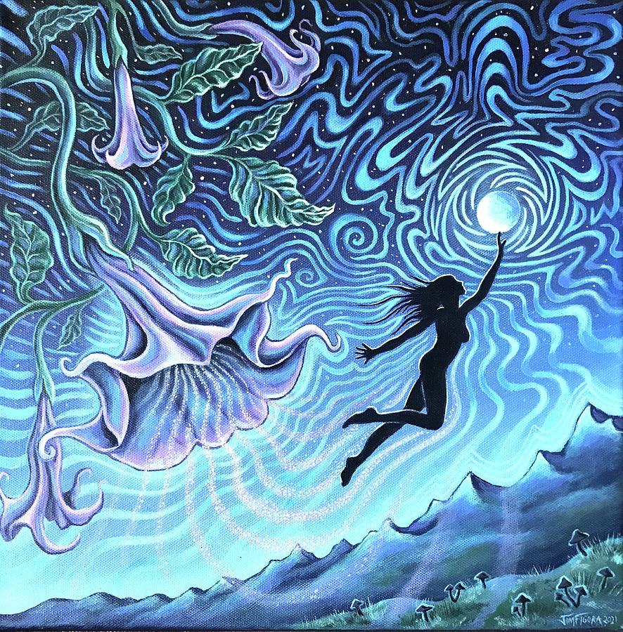 Psychedelic Painting - Reina de la Noche by Jim Figora