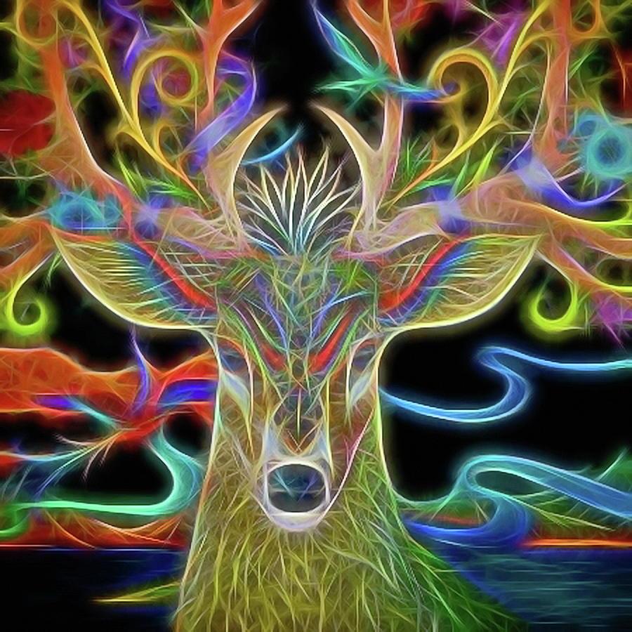 Deer Photograph - Reindeer Abstract Art  by Andrea Kollo