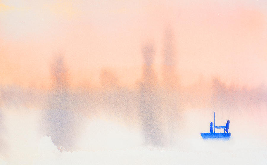 Relaxing on a Sailboat at Dawn by Paul Thompson