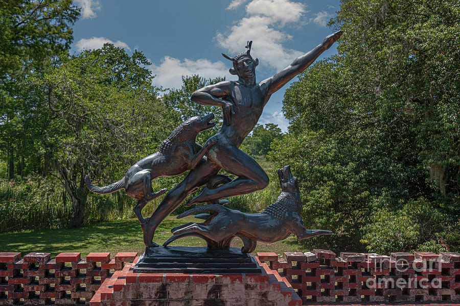 Release The Hounds - Garden Statue At Brookgreen Gardens And Wildlife Preserve Photograph