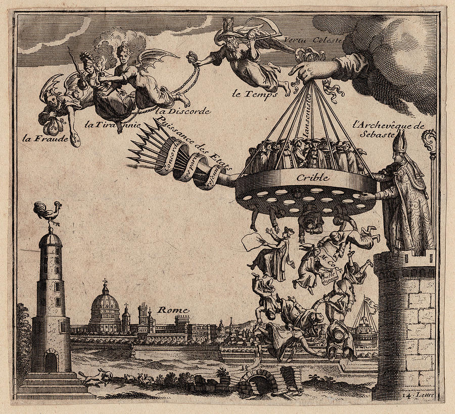 Jansenism Digital Art - Religious Allegory French Jansenists and Rome by Antique Images