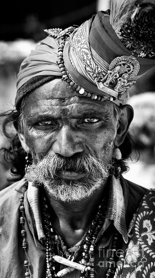 Religious Indian Beggar by Tim Gainey