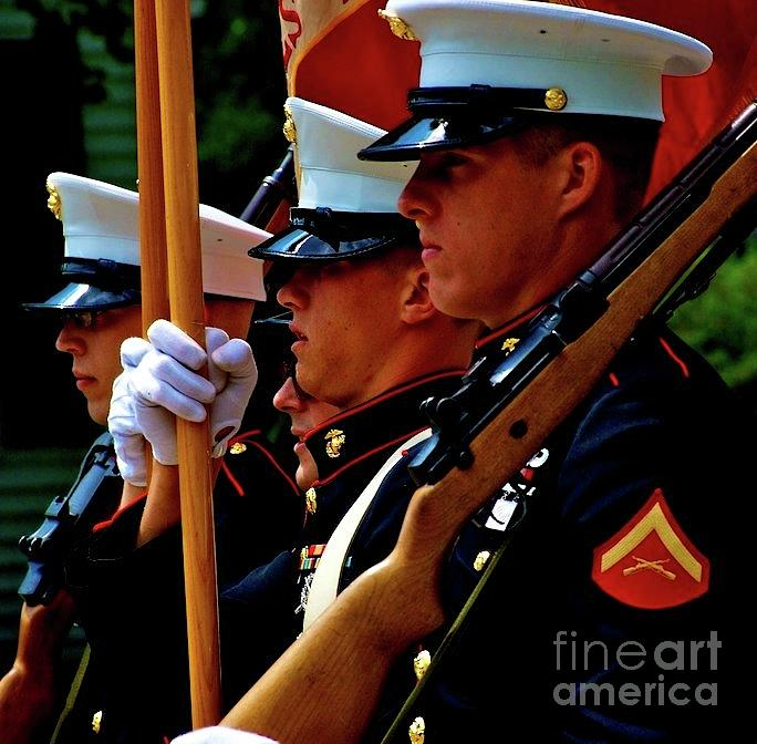 Marines Photograph - Remembering the Brave by Frank J Casella