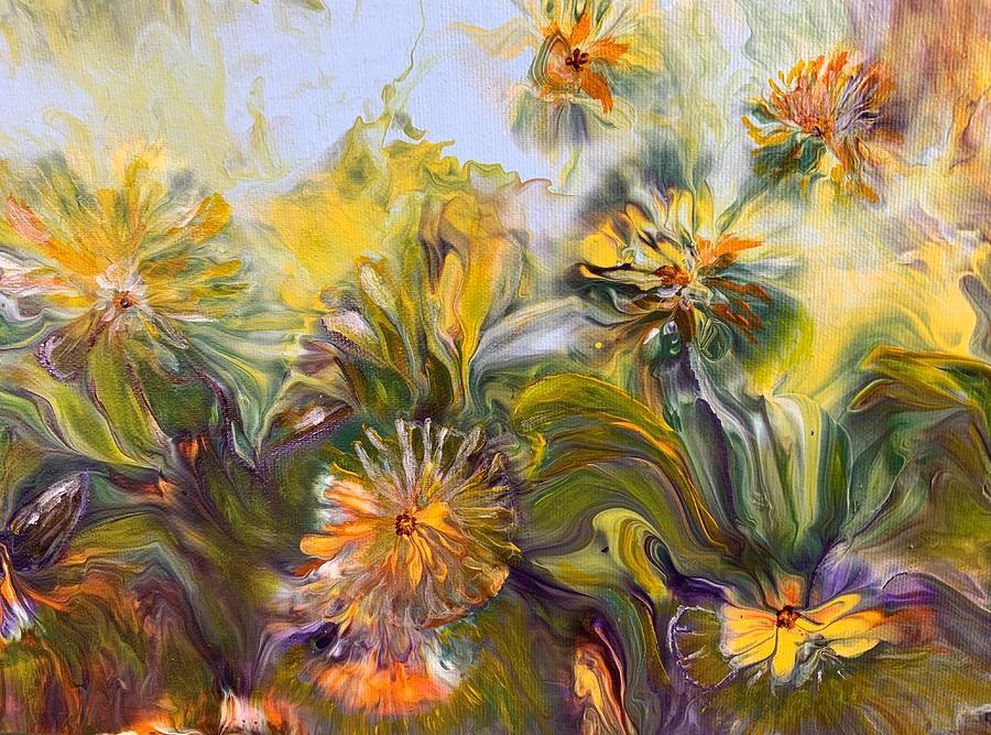 Flowers Painting - Renewal by Soraya Silvestri