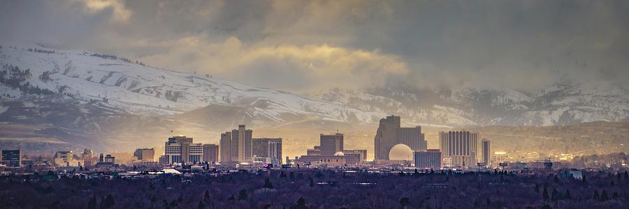 Reno Skyline Pano 9414 by Janis Knight