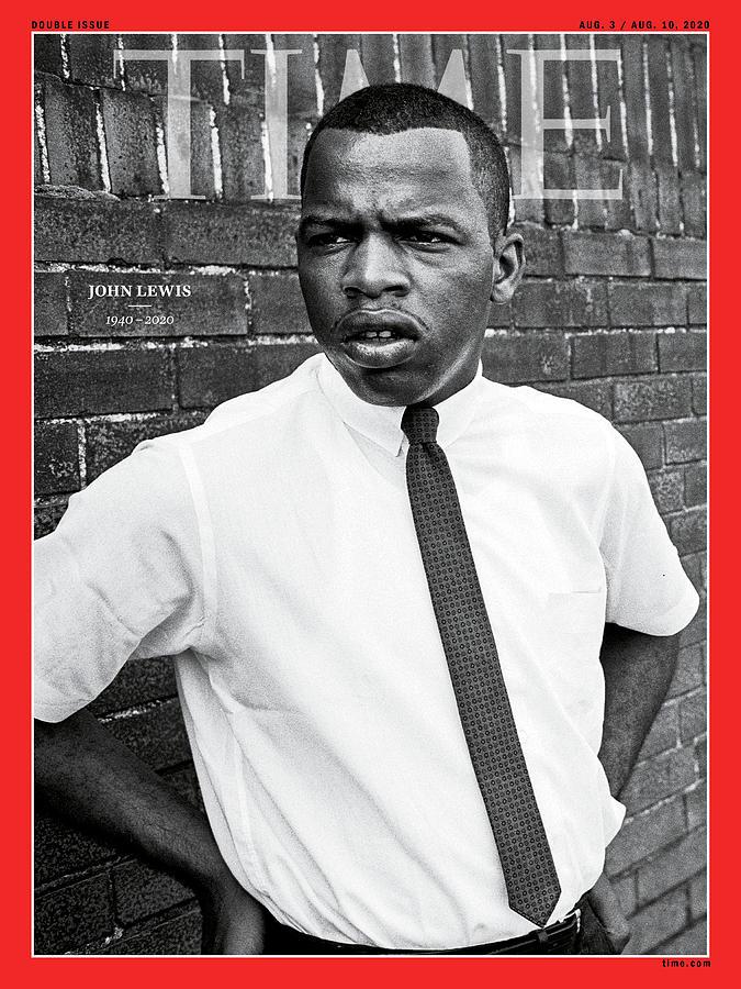 Us Photograph - Rep. John Lewis 1940-2020  by Steve Schapiro Getty Images