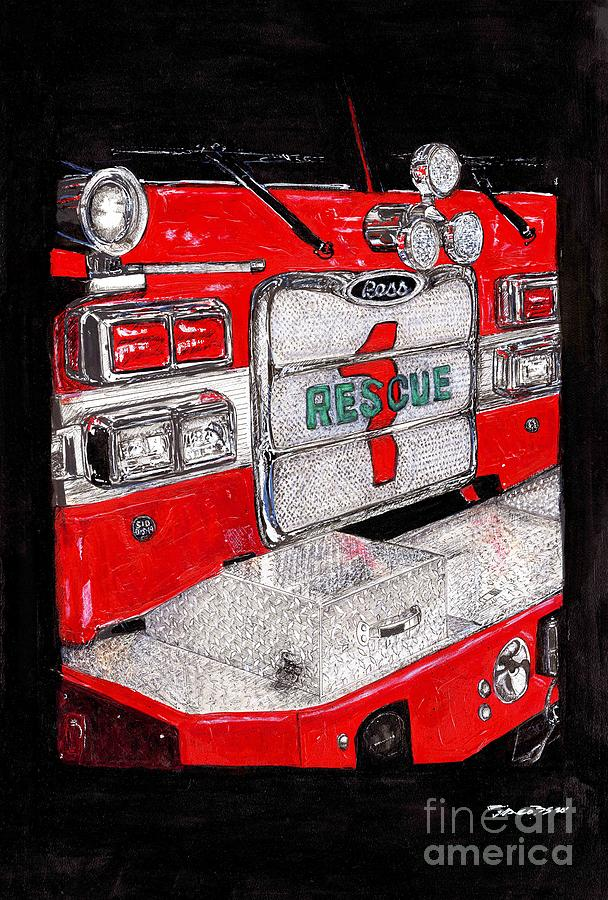 Rescue Mixed Media - Rescue  by Kevin Scott Jacobs