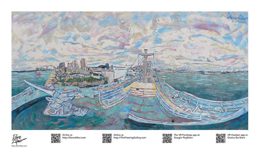 Gallery Painting - Resilient Americana Victory SS American Victory in Tampa Floridas Channel District by Dave Alber