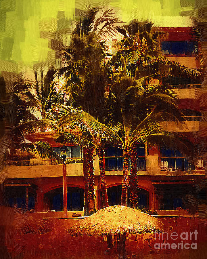 Resort Digital Art - Resort Palm Trees by Kirt Tisdale