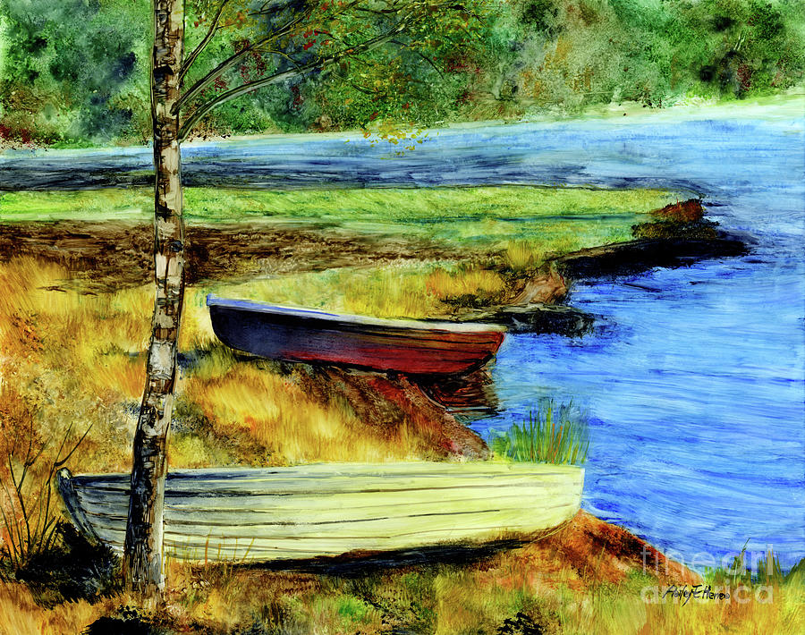 Resting Boats Painting