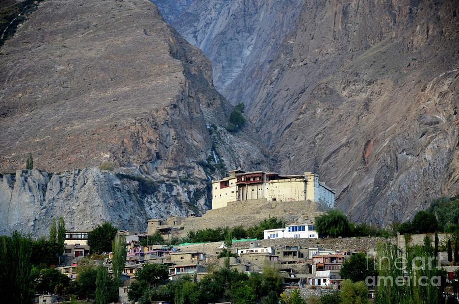 Restored Baltit Fort among mountains in Karmibad Hunza Gulgit-Baltistan northern Pakistan by Imran Ahmed