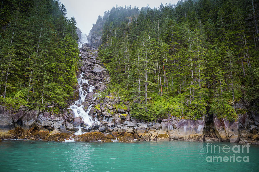 Resurrection Bay Waterfall by Eva Lechner