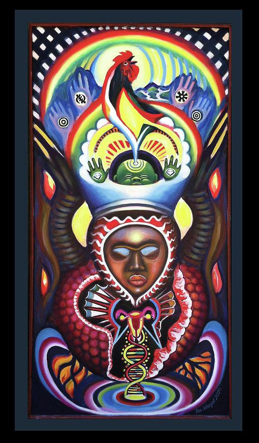 Resurrection Painting by Ras Jahaziel Tafari