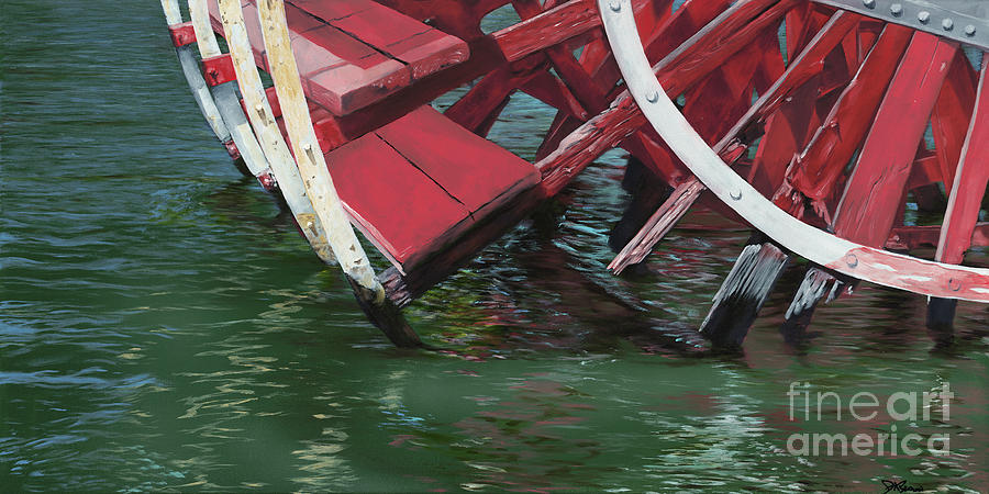 Retired Paddle-Wheel by D A Brown