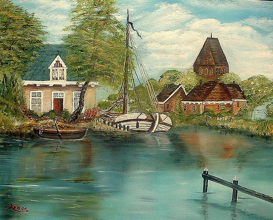Retired Sailor Painting by Kenneth LePoidevin