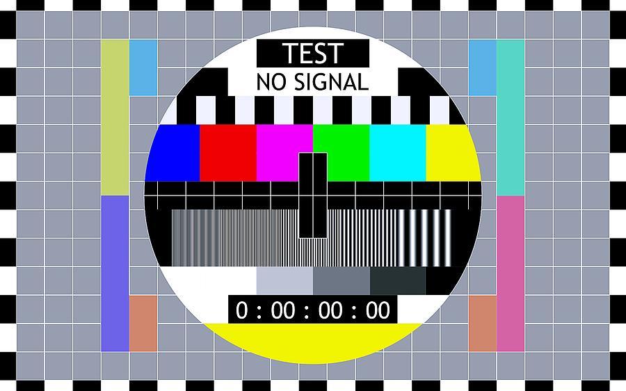 Retro TV Test Pattern by Marianna Mills