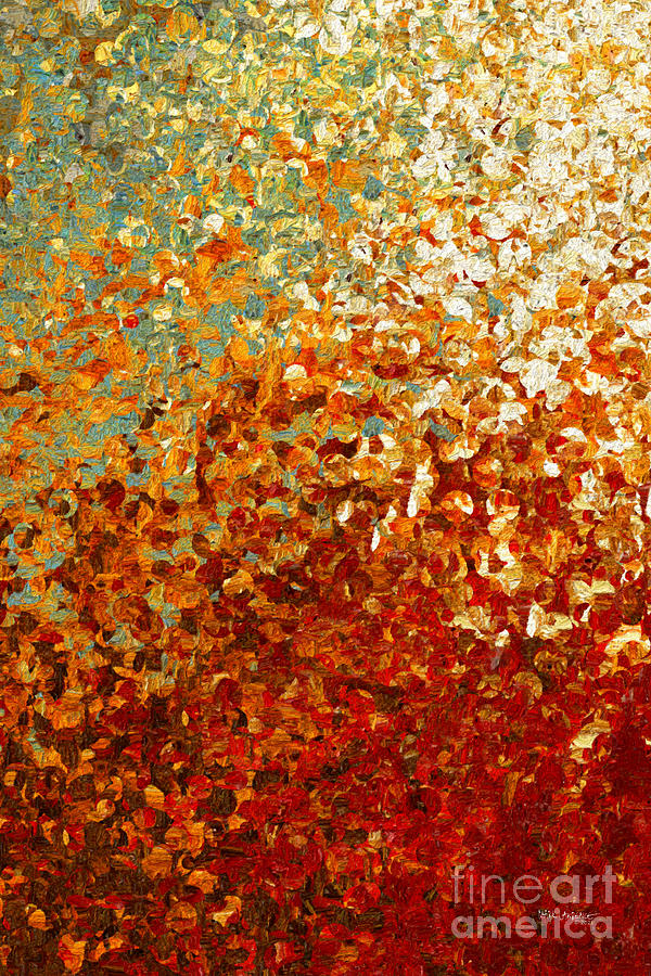 Red Painting - Revelation 20 12. Book Of Life Opened. by Mark Lawrence