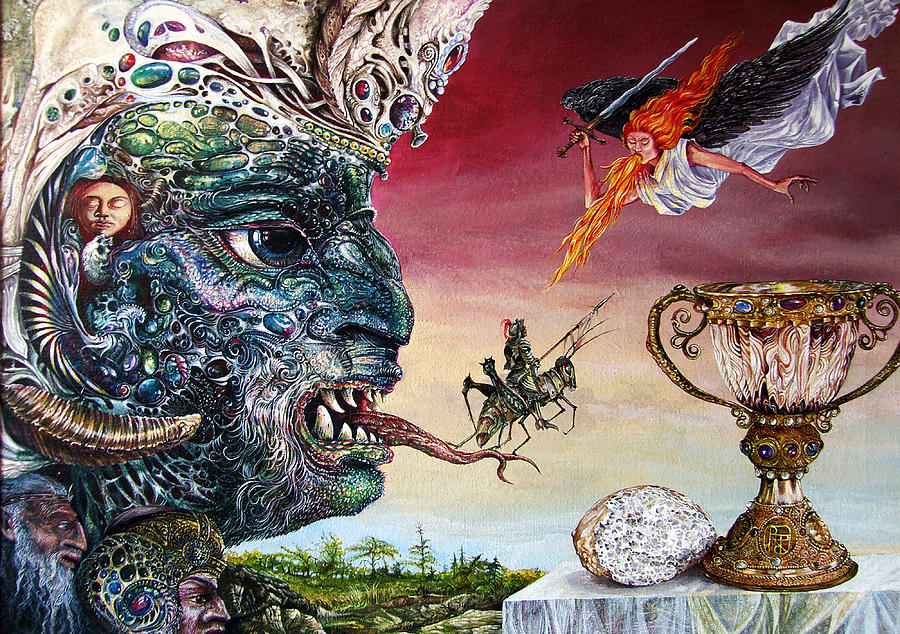 Surrealism Painting - Revelation 20 by Otto Rapp