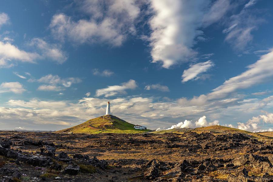 Reykjanes Lighthouse Iceland Photograph