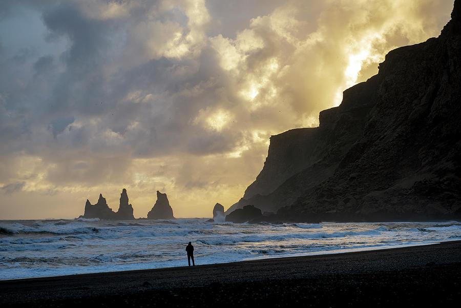 Reynisfjara Black Beach, Iceland Photograph