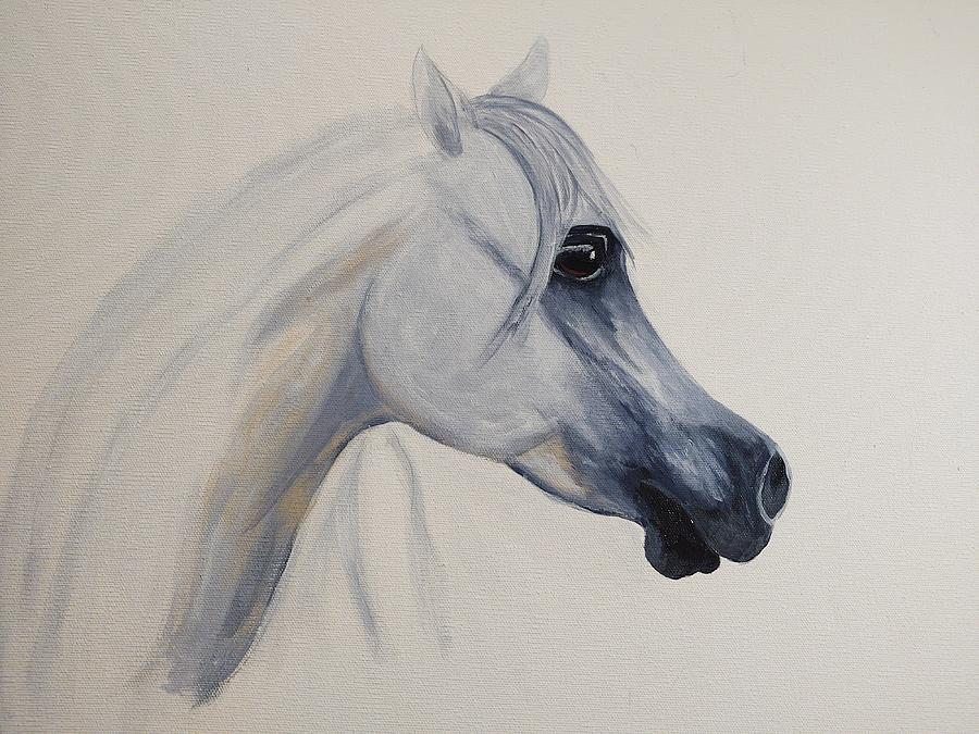 Horse Painting - Rhapsody in Blue by Diana Cochran