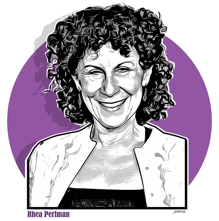 Rhea Perlman Drawing - Rhea Pearlman by Greg Joens