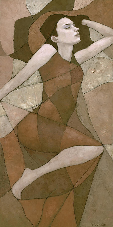 Female Figure Painting - Rhea by Steve Mitchell