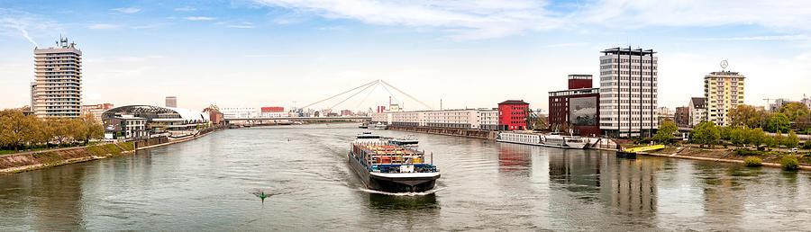 Rhine (Rhein) - Ludwigshafen - Mannheim Photograph by Achim Lammerts