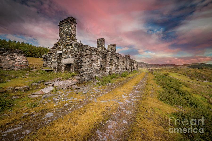 Rhos quarry barracks Ruins by Adrian Evans