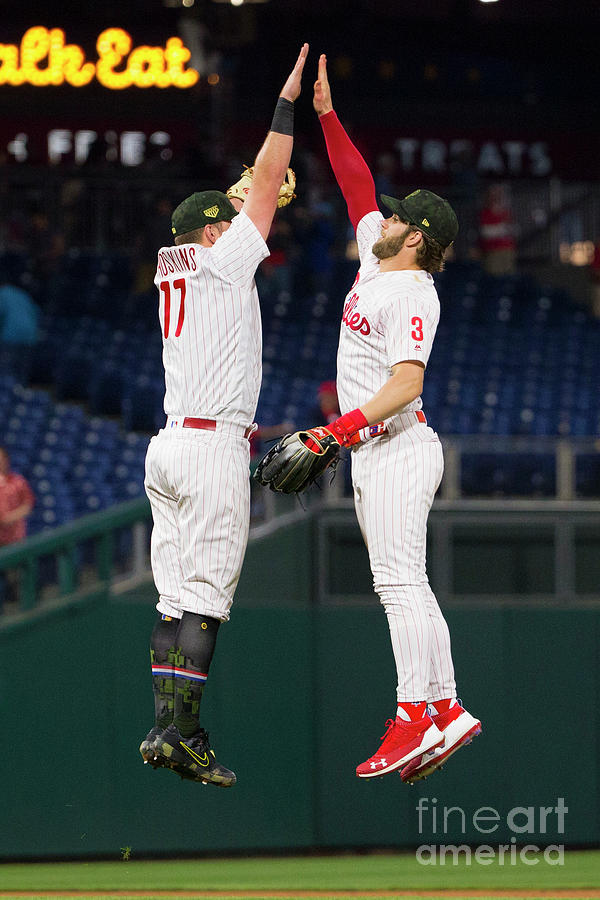 Rhys Hoskins And Bryce Harper Photograph by Mitchell Leff