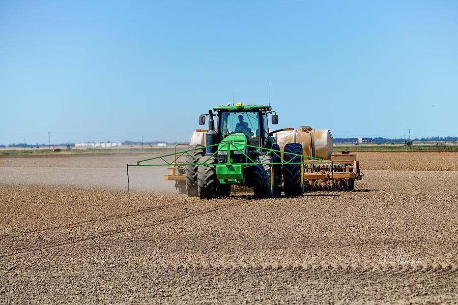 John Deere Photograph - Rice Farming by Jim Thompson