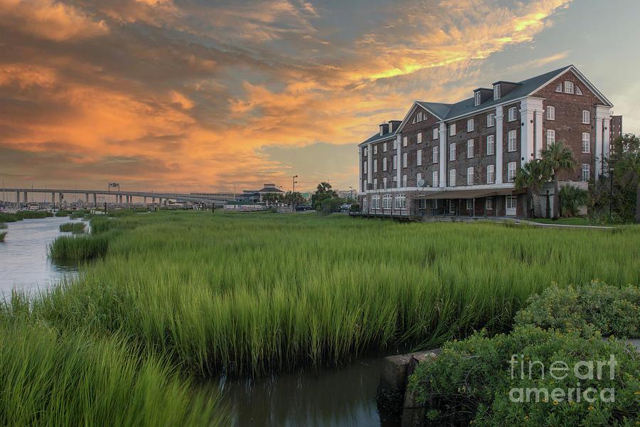 Rice Mill - Charleston South Carolina - Southern Sunset Photograph